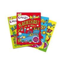 Holland Publishing Crazy Machines/Wacky Robots Sticker Book 863H