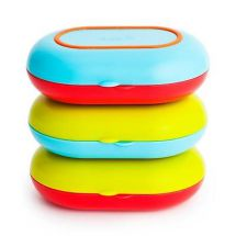 Boon B872 Baby Food Container Mix Match Multi Coloured Plate & Bowl Snap Seal