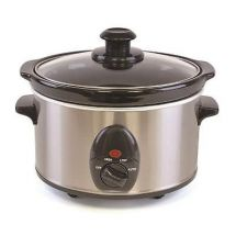 Lloytron 1.5 Ltr Slow Cooker - Brushed Steel E3015