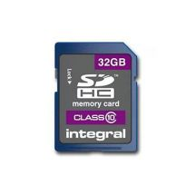 Integral SDHC Class 10 32GB Memory Card Protective Case Included