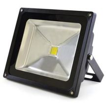 Lloytron L8515 Long Life 50w LED Floodlight w/ Screws & Rawl Plugs - Black - New
