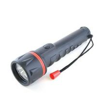 Lloytron D2223 Black Rubber Long Life LED Beam Torch 3x Brightness Setting - New