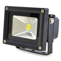 Lloytron L8511 Long Life 10w LED Floodlight w/ Screws & Rawl Plugs - Black - New