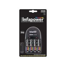 Infapower C002 Home Battery Charger With 4 Rechargeable AA Batteries Included