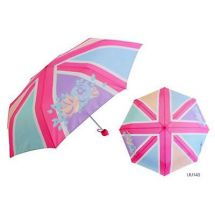 KS Brands UU0140 18 Inch Ladies Fashion Union Jack Style Pastel Design Umbrella