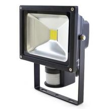 Lloytron L8512 Passive IR 20w LED Floodlight w/ Screw & Rawl Plugs - Black - New
