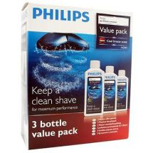 Philips HQ203 Jet Clean Water Based Solution For Trimmers, Shavers Etc. 3 Pack