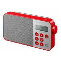 Sony XDR-S40DB Mains and Battery Powered DAB+/DAB/FM Radio LCD Display Red New