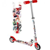 One Direction M04864 Foldable Inline Scooter With Colour Printed Footplate - New