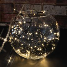 Lyyt 155.608 Outdoor LED Battery Operated String Lights with Timer Warm White
