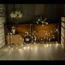 Lyyt 155.671 Brighten up any Room Decorative Large LED Love Wire Frame Lights