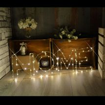 Lyyt 155.672 Brighten up any Room Decorative Large LED Home Wire Frame Lights