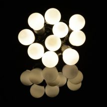 Lyyt 155.683 10 Bauble Indoor Battery Operated LED Festoon Lights Warm White