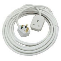 10 M Metre 1 Way Mains Plug Socket Extension Lead Long