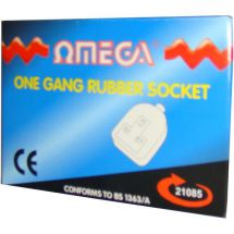 Omega 21085 Rubber One Gang High Visibility Loose 13A Mains Power Socket BS1363A