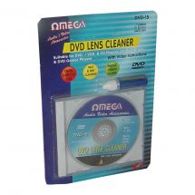 Omega 23015 Universal CD DVD Wet Dry Lens Cleaner Kit Improve Playback & Music