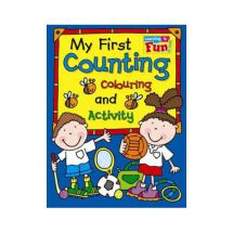 Holland Publishing 55H My First Counting, Colouring And Activity Childrens Book