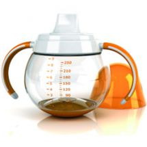 Tomy mOmma Baby Non-Spill Cup 250ml with Lid - Orange