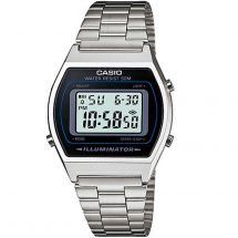 Casio B640WD/1AV LED light Stainless Steel Band Classic Digital Watch - Silver