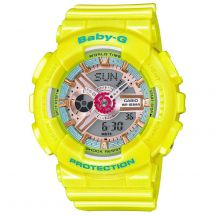 Casio BA110CA/9AER Shock Resistant Baby G Ladies Watch with Resin Strap - Yellow