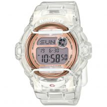 Casio BG169G/7BER Ion Plated 200m Water Resistant Baby G Watch - White & Gold