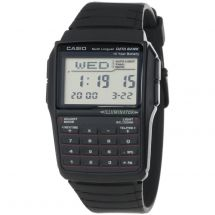 Casio DBC32/1A Hourly Time Signal Retro Auto Sort Function Databank Watch - Blk