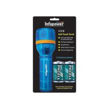 Infapower Splashproof Torch & Batteries Blue F021
