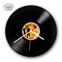 Gifthouse International 30513 IGGI Retro Record Wall Clock Party Time 1 of 4 New