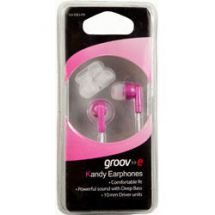 Groov-e Stereo Kandy In Ear iPod Mp3 Headphones Pink