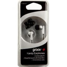 Groov-e Stereo Kandy In Ear iPod Mp3 Headphones Silver