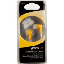 Groov-e Stereo Kandy In Ear iPod Mp3 Headphones Yellow