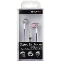 Groov-e In Ear Stereo iPod Mp3 Headphones Metal/Pink