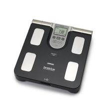 Omron BF508 Body Composition Fat Muscle Monitor Bathroom Weighing Scales - Black