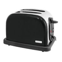 Lloytron 2 SliceWide Slot Toaster Black Steel E2017