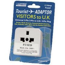 Travel Adaptor For UK Visitors Universal 2 and 3 Pin