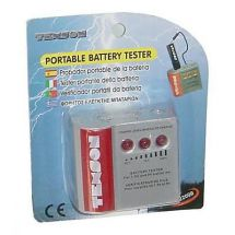 Texson 22000 Portable Battery Tester AA AAA C D PP3 Charge Level Check Display