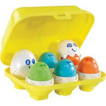 Tomy Hide 'n' Squeak Eggs Shape Sorting