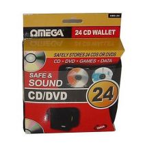 Omega 23624 CD/DVD 24 Disc Protective Carry Case Holder Lightweight Storage New