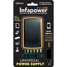 Infapower 2250mA Universal Multi-Voltage Power Supply with USB Port