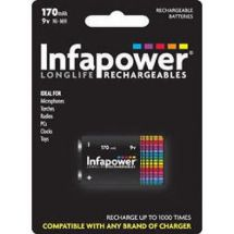 Infapower Rechargeable 9v Square Ni-MH High Performance Multi Use Battery 170mAh