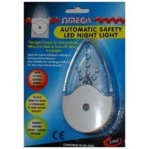 Omega 21922 Automatic Sensor Safety LED Plug In Mains Powered Childs Night Light
