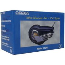 Omega 11013 Classic Radio Style AM FM Compact Portable Radio Built in Speaker