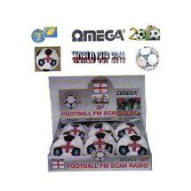 Omega 2206 England Football Shape Soft Scan FM Radio Built in Speaker Volume