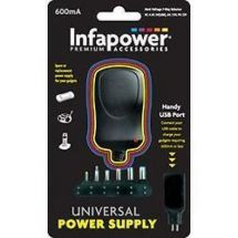 Infapower P001 600mA Universal Power Mains Power Supply Adaptor USB 7 Way AC DC