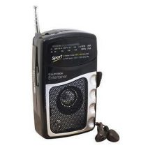 Lloytron N2201 Entertainer 2 Band DC Battery Portable Radio + Earphones - Black