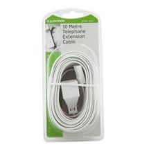 Lloytron A453 10m Home Office Telephone Line Socket Extension Lead Cable - White