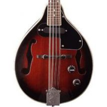 Stagg M50E Electro-Acoustic Bluegrass Mandolin with Nato Top Redburst Colour New