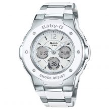 Casio MSG300C/7B3E Digital and Analogue Baby G Alarm Chronograph Watch - White
