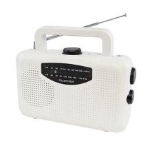 Lloytron N2403 Mains Or Battery Powered 'Classic' AM/FM Portable Radio White New