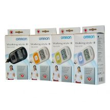 Omron HJ203 Pedometer Walking Style III Step Counter Calorie Measurement - Green